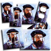 Claude Monet Self Portrait Painting Lightswitch Outlet Wall Plate Room Art Decor - $9.29+