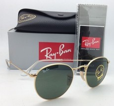 New Ray-Ban Sunglasses ROUND METAL RB 3447 001 47-21 Gold with G-15 Green Lenses - $169.95