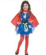 Charades Supergirl Tutu Set Halloween Costume Girls Size XS M L USA Sell... - $29.99