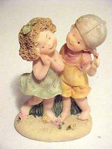 Figurine Little Boy & Girl Flirting First Love - $6.88