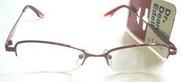 Dr. Dean Edell Red Metal Half-Rim Oval Reading Glasses +1.25 - $49.99