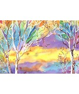 "Akimova: SUNSET, fall, winter, sky, approx. size 7""x10.5"" - $10.00"