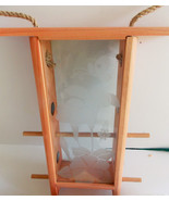 Tropix Wood & Etched Glass Birdfeeder - £10.79 GBP