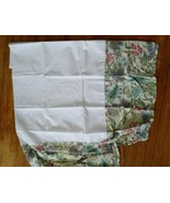 New in Pack Full Size Bed skirt 100% Cotton White Green paisley floral r... - $8.86