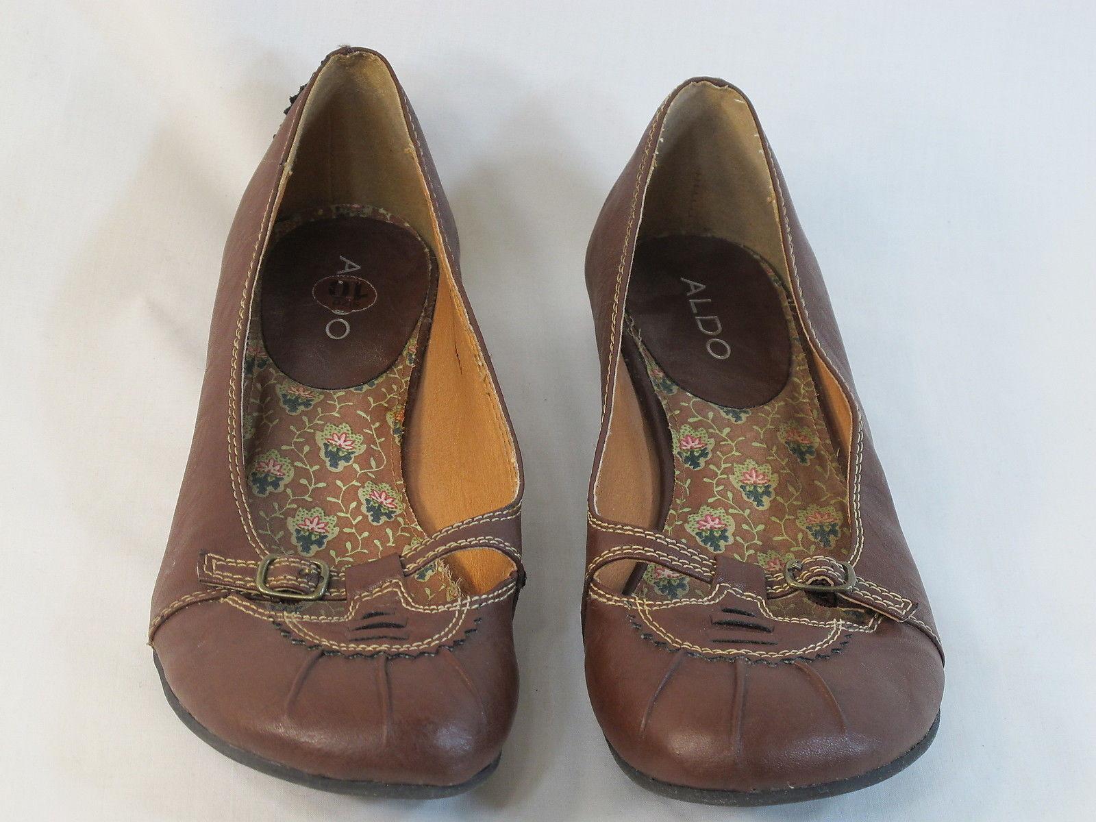 ALDO Brown Loafer Flats 9 M US Excellent Condition EUR 40