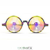 GloFX Tribal Kaleidoscope Glasses- Rainbow Goggles Wormhole Real Glass Crystals - $41.99