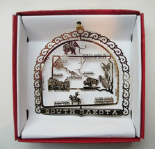 South Dakota Brass Christmas Ornament State Travel Souvenir Keepsake Gift - $13.95