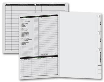 Letter Size Real Estate Listing Folder Left Panel - 50 Count