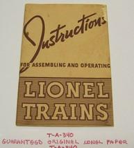 Lionel prewar train 1940 instruction book - $13.00