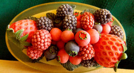"""Fruit Bowl Candle Topper/4"""" by 2 1/2"""" - $11.83"""