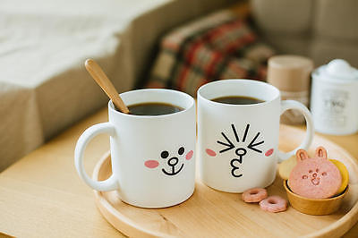 LINE Friends CONY Two Face Mug Cup Naver App Character Home Living Gift Decor