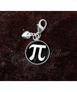 925 Sterling Silver Charm Pi Symbol 3.14 π Mathematics Math - $25.25