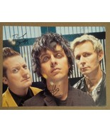 Green Day Hand Signed Photo COA Billie Joe Armstrong Mike Dirnt Tre Cool - $129.99