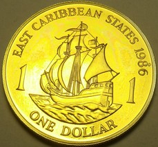 Rare Proof East Caribbean States 1986 Dollar~2,500 Minted~The Golden Hin... - $26.12
