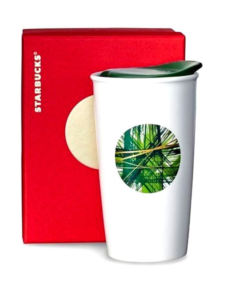 Primary image for Starbucks Double Wall Traveler - Graphic Green Dot, 12 fl oz/Red Gift Box/2014