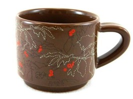 "Starbucks Coffee Mug ""Coffee Bean Plant  Abstract Floral Brown Red""10 Oz - $18.76"