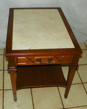 Mid Century Walnut Formica Top End Table / Side Table by Mersman  (T535) - $299.00