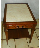 Mid Century Walnut Formica Top End Table / Side... - $299.00