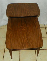 Mid Century Walnut Formica Top Step End Table / Side Table by Lane  (BM-T536) - $299.00