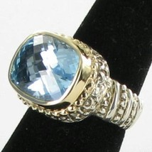 Alwand Vahan 14K Yellow Gold Beaded Sterling Blue Topaz Ring Sz 7 New $1995 - $1,115.49