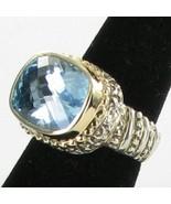 Alwand Vahan 14K Yellow Gold Beaded Sterling Blue Topaz Ring Sz 7 New $1995 - $1,115.49
