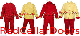 NEW BOYS or GIRLS REVERSIBLE RED YELLOW PADDED JACKET PAJAMAS SET WARM C... - $29.95