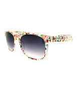 Classic 80's Retro Print Sunglasses Nerd Style - Text - $148,24 MXN
