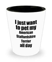American Staffordshire Terrier Shot Glass Dog Lover Mom Dad Funny Gift Idea for  - $9.87
