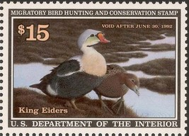 RW58, King Elders Federal Duck Stamp VF OG NH - Stuart Katz - $17.50