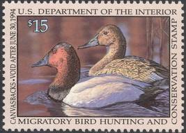 RW60, Canvasbacks Federal DUCK Stamp VF NH - Stuart Katz - $19.95