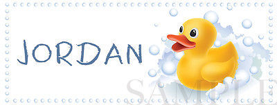 Rubber Ducky Stickers - Waterproof - Personalized (10 Stickers Per Order)
