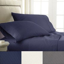 Sweet Home Collection 1800 Count Embossed Check Microfiber Sheet Set - $22.24+