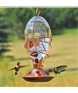 Glass Hummingbird Squirrel Proof Bird Drink Fee... - $49.95
