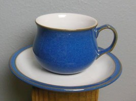 Denby Imperial Blue Coffee / Tea  Cup and Saucer  Made in England - $24.00