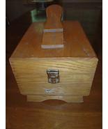 VINTAGE Griffin Shinemaster Shoe Shine Kit Oak Finger Joint Box chest Wood - $121.09