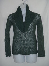 Small S  Anthropologie Guinevere Open Knit Green Long Sleeve Sweater - $37.08