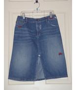 A/X Armani Exchange Denim Skirt Size 4 Knee Length Distressed Blue  - $32.40