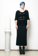 90s vintage black net knit top - $38.30
