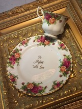 "ROYAL ALBERT OLD COUNTRY ROSES 8"" PLATE CUP MUG TO MOTHER WITH LOVE SET ... - $27.00"