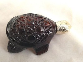 AVON TREASURE TURTLE 1 Oz  Field Flowers EDU Splash Figurine Perfume Bottle - $9.41