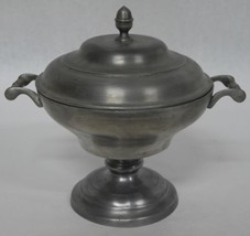 19th Century Jori Pewter Soup Tureen Serving Bowl with Lid - $100.00