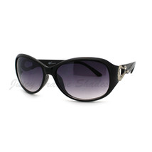 Womens Oval Round Sunglasses Horse Shoe Rhinestone Embellished - $7.95+