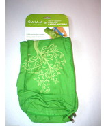 New Gaiam Mat Carrier Full Zip Cargo Pockets Hot Yoga Pilates Green Tree... - $16.00