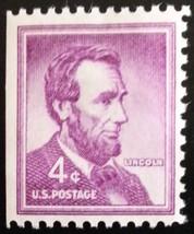 1958 4c Abraham Lincoln, Booklet Single Scott 1036a Mint F/VF NH - $0.99