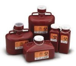 6152340 PT# 185 Container Sharps-Tainer Non-Stackable Small Red 1.7qt Ea... - $6.86