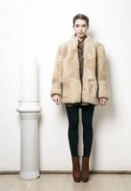 60s vintage sheepshin patchwork winter coat - $144.19