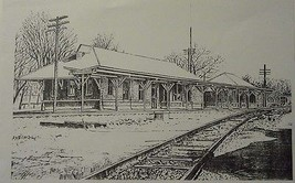 Murfreesboro Train Station(MIni Print) By Bernard Wiley - $20.00
