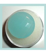 14.90ct AQUA BLUE CHALCEDONY Round Checkerboard 20mm Faceted Natural Gem... - $21.99