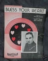 Bless Your Heart SHEET MUSIC - $3.25