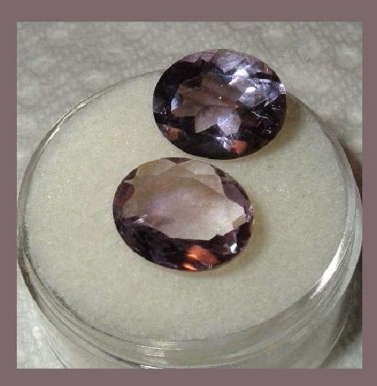 5.80ctw Lot of 2 Natural AMETHYST 11x8mm Oval Cut Faceted Loose Gemstones